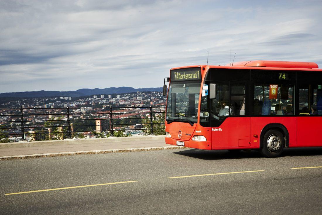 Ruter buss Mortensrud Oslo sør